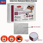 Corner Straps Cotton Terry Waterproof Mattress Protector by Easyrest - ALL SIZES