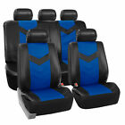 Synthetic Leather Seat Covers Car Suv Auto w/ Steering Wheel Belt Pads 6 Colors <br/> Durable PU Leather Seat Cover / Fast Shipping!