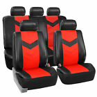 Synthetic Leather Seat Covers Car Suv Auto w/ Steering Wheel Belt Pads 6 Colors