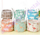 Foldable Portable Storage Box Cotton and Linen Clothing Bag Laundry Baskets Bins