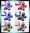 Vintage Crystal Butterfly Pendant Long Chain Necklace Gift Jewellery + FREE Bag