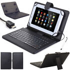 Stand Pattern Leather Case Cover Micro USB Keyboard For Acer 7'' 8'' 10'' Tablet