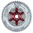 Sunrace MX8 11spd Cassette 11/50T MTB w/RED Tail Hook Lengthener Silver/Black