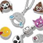 Emoji Sterling Silver Dangle Charm. Comes in branded Persona Pouch and Box
