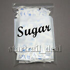 12 x 15 4Mil White Block Reclosable Resealable Ziplock Poly Plastic Bags Jewelry