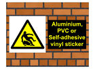 1027 Slipper Surface sign weatherproof Aluminium Plaque PVC or Vinyl Sticker