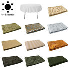 Jacquard Cotton Polyester Table Cloth 177cm Diameter ROUND 4-6 Seater