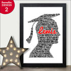 Graduation Word Art Print Gift Present PERSONALISED Graduate Hons Degree Gifts