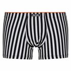 Bruno Banani Men's Custody Short Black | White Striped Boxer Trunk Underwear