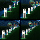 4x-8x-12x-16x solar lamps stainless steel plug-in lights silver outdoor lighting
