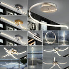 LED table stand lights living room ceilings hanging waves lamps crystal effect