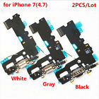 2PCS Charger Charging Dock Port Flex Cable for iPhone 4 4S 5 5C 5S 6 6S 7 Plus