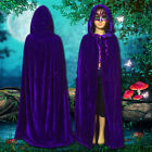Halloween Children Vampire Velvet Cosplay Prince Witches Hooded Cloak Party Fun