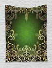 Gold Mandala Tapestry Arabesque Frame Print Wall Hanging Decor 40Wx60L Inches