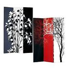 Tree 3-Panel Double Sided Painted Canvas Room Divider Screen New