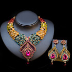 Fashion Luxury Crystal Bridal Jewelry Sets Teardrop Pendant Necklace+Earring set