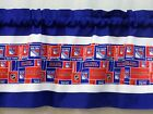 "New York Rangers NHL Hockey Blue Pieced Valance Panel Choose:40"", 52"", 80"" x 13"" $24.0 USD on eBay"