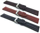 Bandini 18-30mm Extra Long (XL) Leather Watch Band Strap, Black, Brown,Tan image