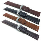 18-30mm Extra Long XL Leather Watch Band Strap, Many Colors, Fits Citizen & More image