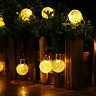 Solar 30LED Multi Color Fairy Bubble Crystal Ball Party Indoor & Outdoor Lights