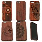 Print Real Wood Wooden Carved Pattern Natural Hard Case Cover for iPhone 6