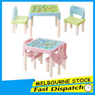 Kids ABC Table and 2 Chair Set Toddler Children Activity Playing Alphabet Learn