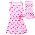 Girls FLAMINGO print vintage party summer dress size 3-8 new au stock xmas