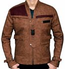Mens Poe Dameron Distressed Jacket Star Wars Finn Leather Jacket M | QuickShip $49.42 USD