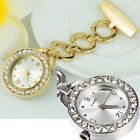 Rhinestone Stainless Steel Nurse Watch Brooch Tunic Fob Watch Quartz Delightful