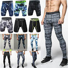 Mens Compression Pants Skinny Tights Base Under Layer Workout Shorts Sportswear