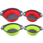 Kitchen Collapsible Silicone Colander Mesh Fruit Vegetable Strainer Basket Set