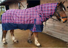 250G MEDIUM / HEAVYWEIGHT CHECKED COMBO TURNOUT RUG WITH NECK ALL SIZES