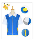 Pokemon Ash Ketchum Trainer Costumes Cosplay Complete Outfit  Jacket+Gloves+Hat