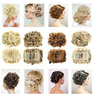 1pc Wave Curly Combs Clip In Hair Bun Chignon Piece Updo Cover Hair Extensions