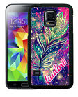 PERSONALIZED RUBBER CASE FOR SAMSUNG NOTE 5 4 3 AZTEC FEATHER SPACE
