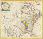 Map of Colonial North America, 1781 (classic map art print)