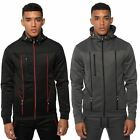 Fremont & Harris Mens Fitted Hoodie Technical Detail Toggle Hooded Sweat Zip Top