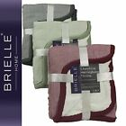 "Brielle Cheshire Herringbone Throw with Sherpa Lining 50""x60"" NEW"