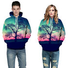 Fashion aesthetic scenery 3D Print Men Hooded Pullover Long Sleeve Sweater