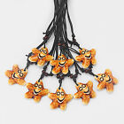 1/12 Brown Surfing Faux Bone Resin Smile Star/Starfish Charms Pendant Necklace