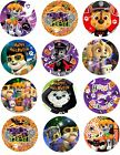 12 Precut Icing 3.7cm Paw Patrol Halloween Cupcake Toppers Party Cakes