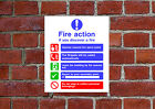 Fire Action HSE sign Health & Safety FA11 25cm x 30cm sign or sticker