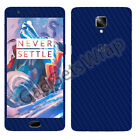 Oneplus 3 1+3 & 3T Exclusive Dark Blue Carbon Skin for Front Back