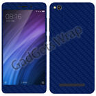 Xiaomi Redmi 4a 4A Exclusive Dark Blue Carbon Skin for Front Back