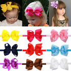 Big Bowknot Headband Kid Girls Toddler Bow Flower Hair Band Accessories Headwear