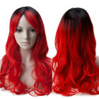 Thick Long Lovely Anime Wavy Full Wig Synthetic Wigs Tour Party Pink Blue Purple