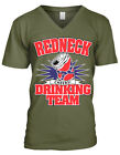 Redneck Drinking Team Cheers Alcohol Beer Health Southern Men's V-Neck T-Shirt