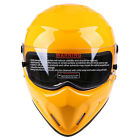 Motorcycle Yellow ATV Helmet Full Face Clear Lens for Street Bandit Racing DOT