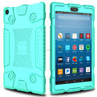 For Amazon Kindle Fire HD 8 2018 8th Gen Shockproof Soft Rubber Armor Case Cover