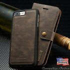 iPhone X/8/7/6S Plus Leather Magnetic Flip Cover Removable Wallet Card Slot Case фото
